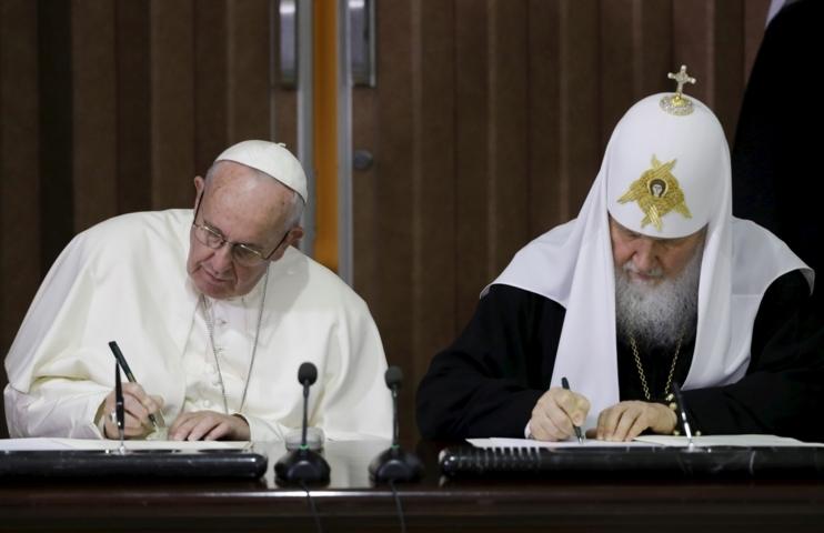 Anti-papa Francesco e Cirillo (Kirill) dichiarazione congiunta