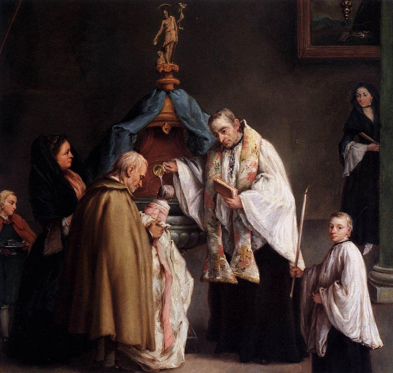 Santo Battesimo di un bimbo.