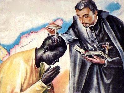 San Pietro Clavero ed il Santo Battesimo miracoloso di uno schiavo