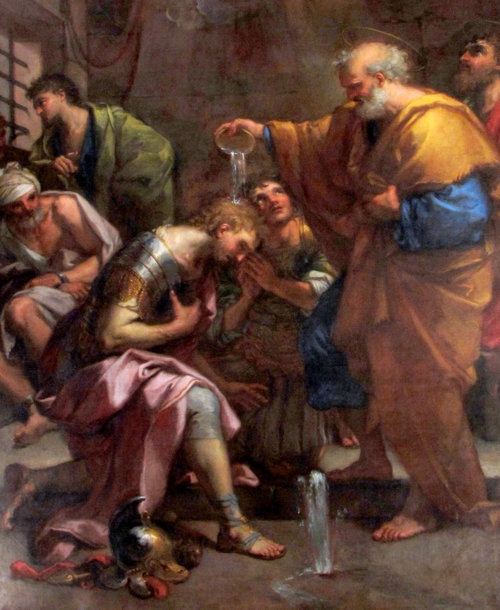 San Pietro battezza Santi Processo e Martiniano