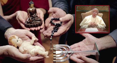 Il breve video di Antipapa Francesco: la sua apostasia tramite il