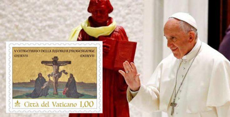 Vaticano: francobollo di Martin Lutero
